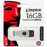 флеш-драйв KINGSTON DT Swivel Design 16Гб USB3.0 Red
