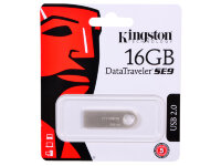 USB-флэш 16 ГБ Kingston DataTraveler SE9 (DTSE9H/16GB); USB 2.0; серебристый