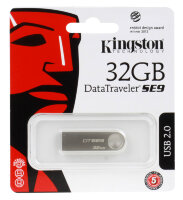 USB-флэш 32 ГБ Kingston DataTraveler SE9 (DTSE9H/32GB); USB 2.0; серебристый