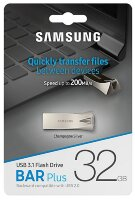 USB-флэш 32 ГБ Samsung BAR Plus (MUF-32BE3/APC); USB 3.1; серебристый