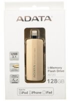 USB-флэш 128 ГБ A-Data AI720 (AAI720-128G-CGD); USB 3.1/Lightning; золотистый